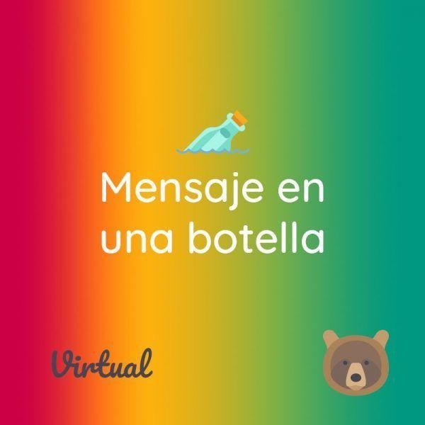"""Banner del producto virtual """"mensaje en una botella"""""""