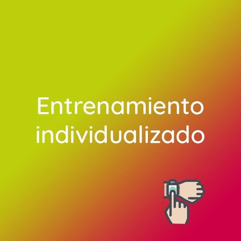 """banner que indica """"Entrenamiento individualizado"""""""