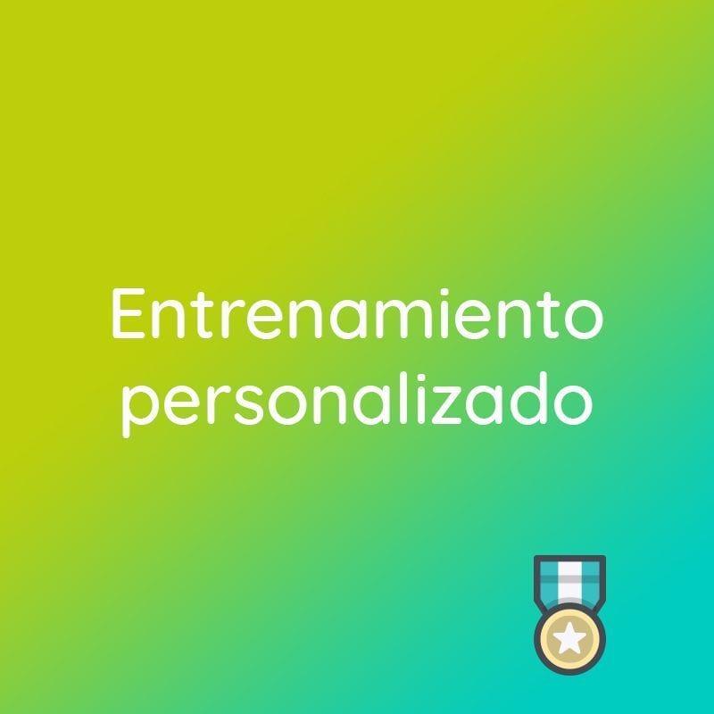 """banner tienda que indica """"Entrenamiento personalizado"""""""