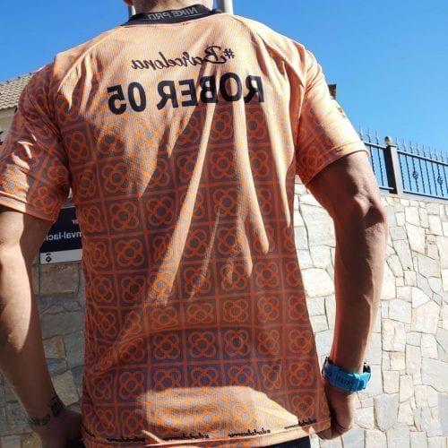 camiseta barcelona naranja elartedecorrer 7