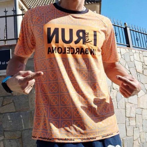 camiseta barcelona naranja elartedecorrer 8