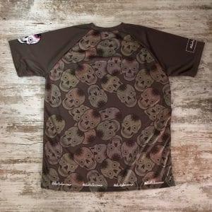 Camiseta manga corta unisex calaveras mexicanas con calaveras repetidas por toda la espalda