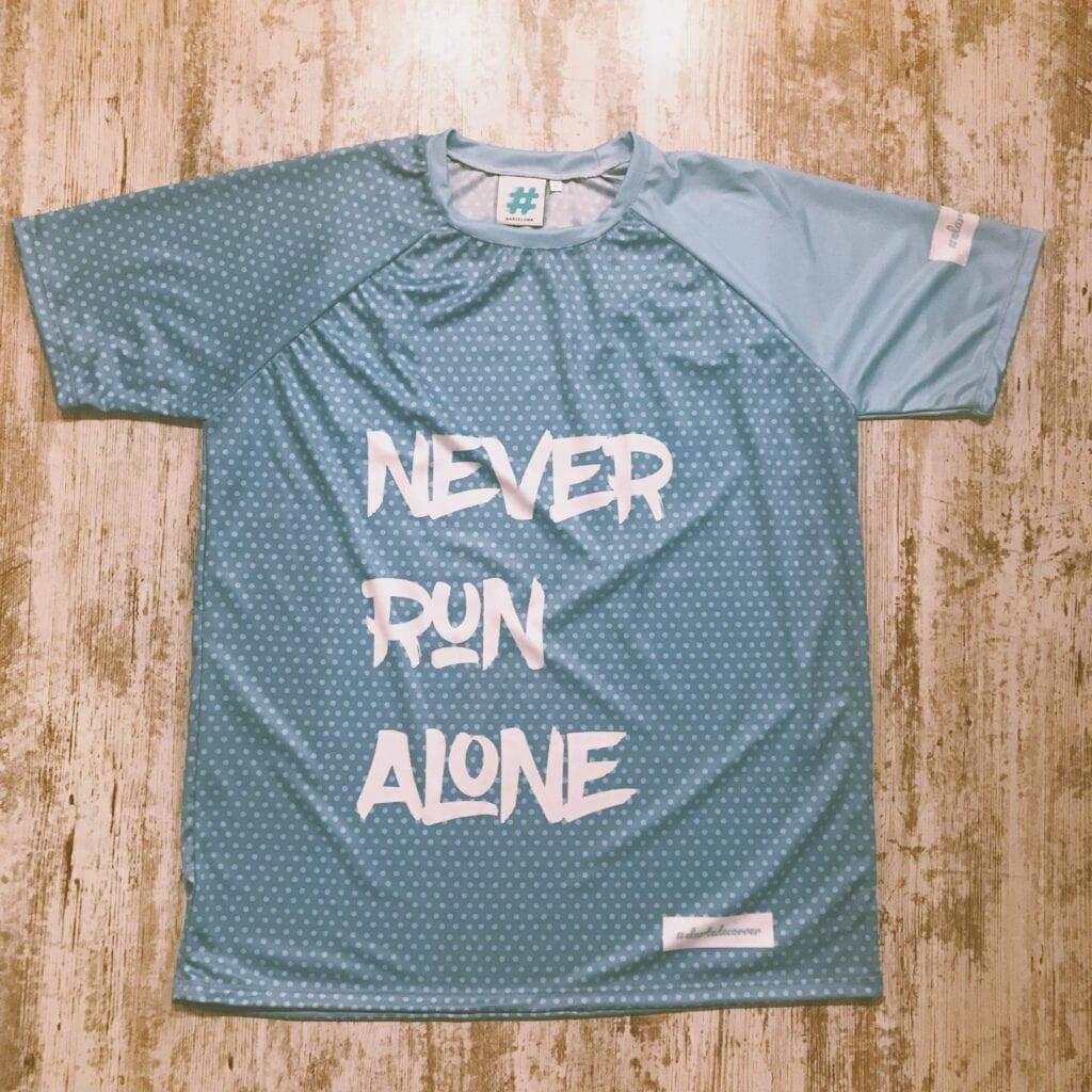 camiseta never run alone unisex elartedecorrer 4 2
