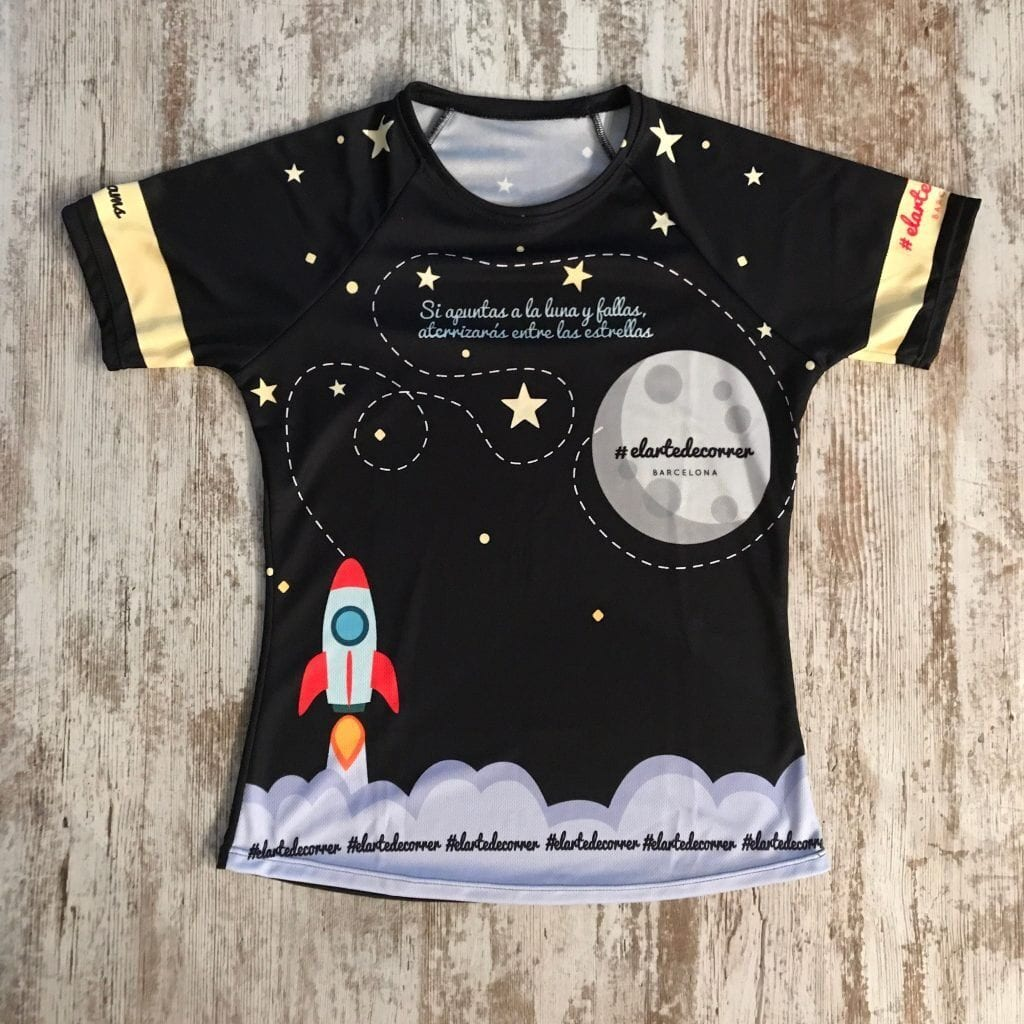 camiseta técnica dispara a la luna elartedecorrer 1
