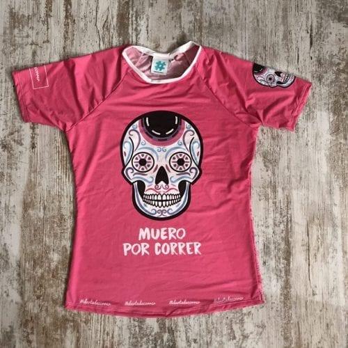 camiseta tecnica calaveras rosa premium 1 2