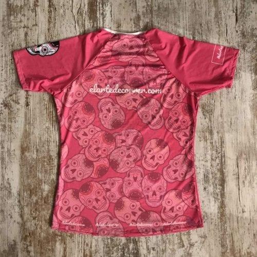 camiseta tecnica calaveras rosa premium 2 1