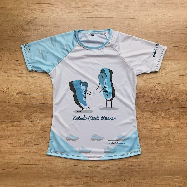Camiseta técnica Estado Civil Runner, color azul.
