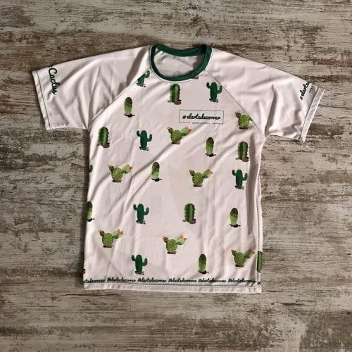 camiseta running cactus blanca