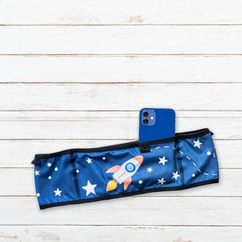 cinturon deportivo apuntaalaluna azul delantero elartedecorrer