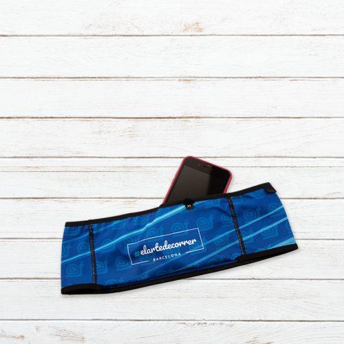 cinturon deportivo trail caracol azul elartedecorrer2