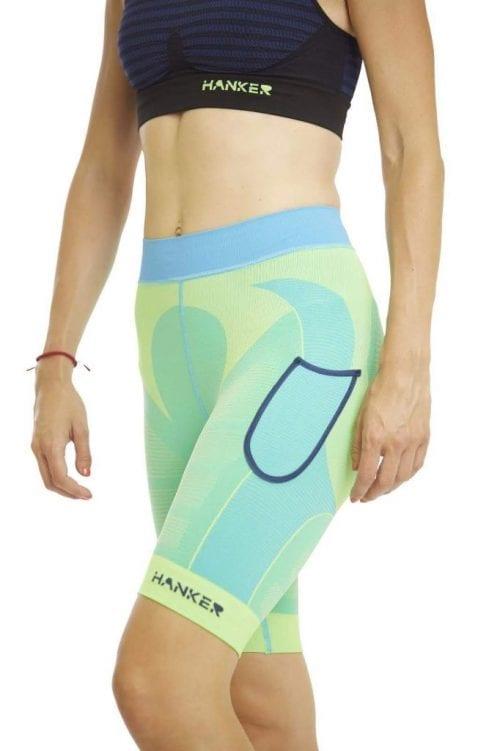 Malla corta Drag Hanker-Sports verde imagen mujer - #elartedecorrer