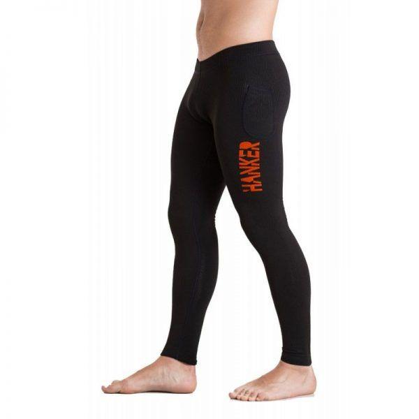 Malla larga unisex en color negro y naranja, modelo Guru.
