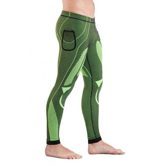 Malla larga unisex en color verde, modelo Guru.