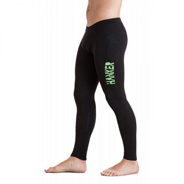 Malla larga unisex en color negro y verde, modelo Guru.