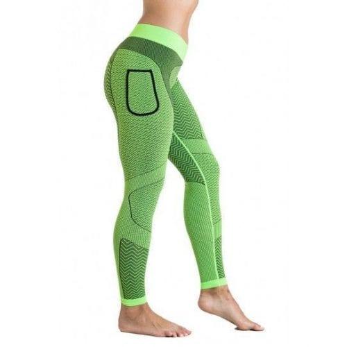 Malla larga mujer en color verde, modelo Mantra.