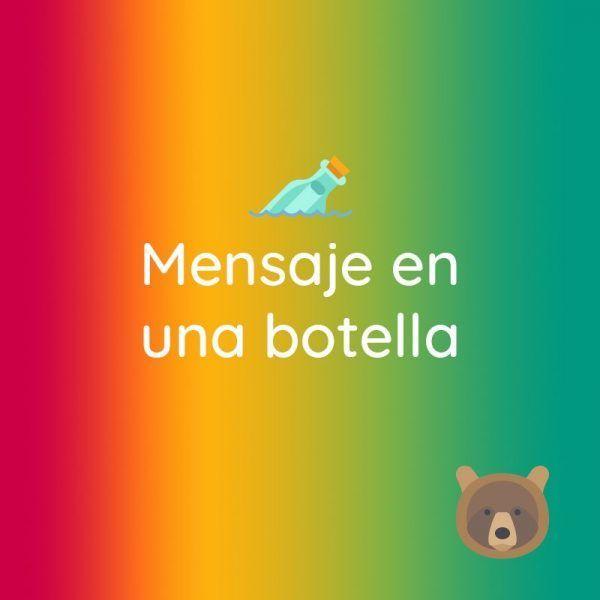 """Banner que indica el producto """"Mensaje en una botella"""""""