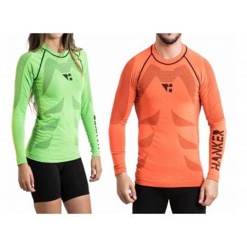 shin camiseta manga larga unisex trail running 3