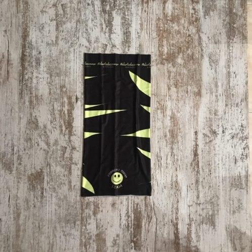 tubular negro con llamas amarillas del equipo de corredores de Forrest Gump Team