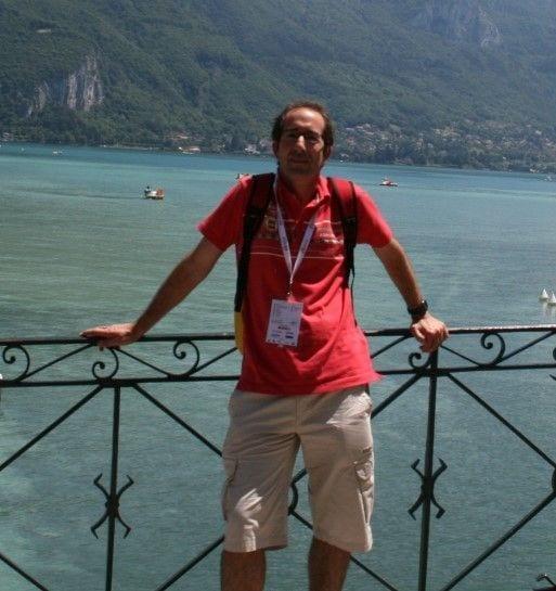 En Annecy, acompañando como técnico a la selección española.